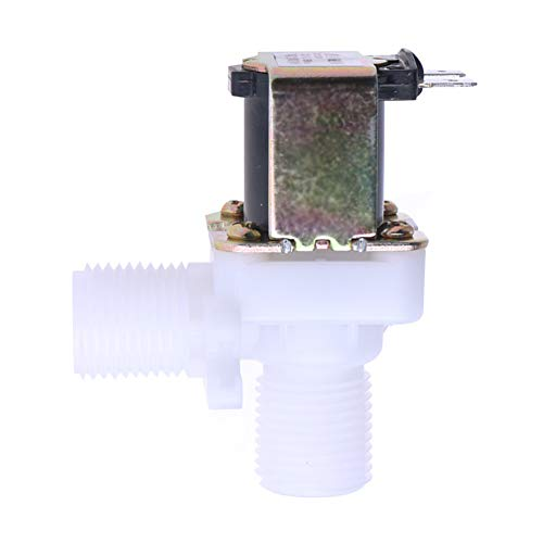 Beduan Plastic Air Inlet Water Solenoid Valve Normally Closed, DC 24V 1/2