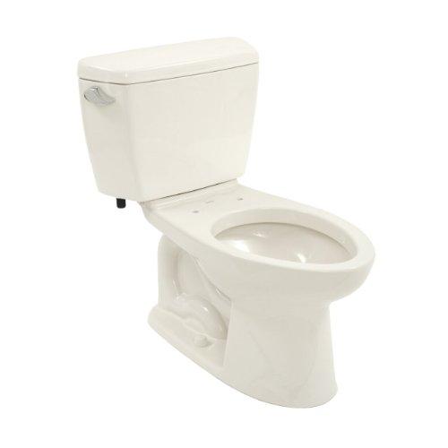 - Toto CST744EN#11 Eco-Drake Elongated Bowl Toilet, Colonial White