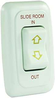 JR Products 12075 White Single Slide-Out Switch Assembly with Bezel