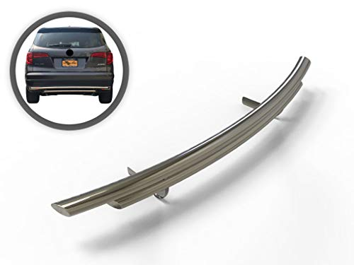 VANGUARD VGRBG-0923-1191SS For Honda Pilot 2016-2019 Rear Bumper Guard Stainless Steel Double Layer Style