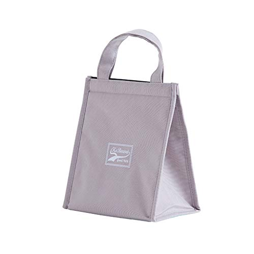Onegirl Lunch Bag Fashion Storage Containers Bags Waterproof,Oxford Cloth Insulated Lunch Bag Food Box Storage Bag Tote For Women Men Kids (L&S Size) (Small, Gray)