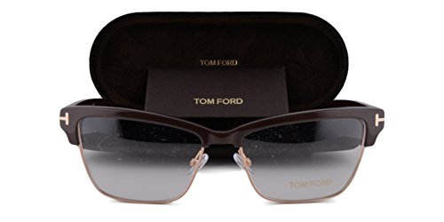 Tom Ford FT5364 Eyeglasses 53-15-140 Havana Dark Shiny Brown 048 TF5364 5364 For - Tom Ford Campbell