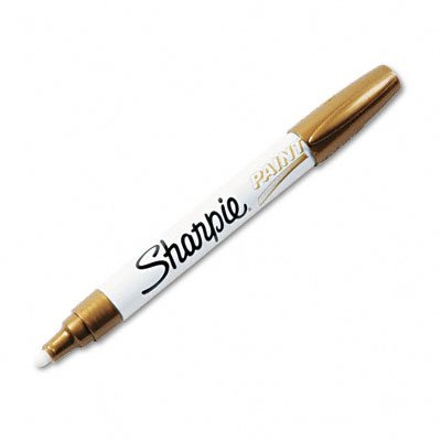 Sharpie Oil-Based Medium Point Paint Markers, 12 Gold Markers (34937)