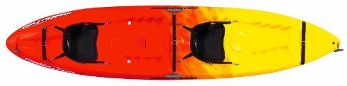 Ocean Kayak 12-Feet Malibu Two Tandem Sit-On-Top Recreational Kayak, Sunrise