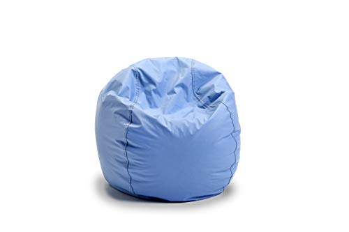 Bigger and Better! Child Size Bean Bag Chair (Light Blue), 100% American Made