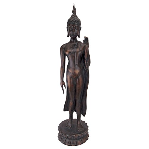 - Design Toscano JQ9633 Free from Fear Standing Buddha Statue, Gold