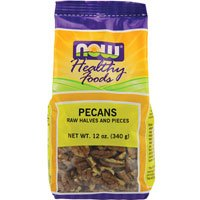 Pecans Halves+Pieces Raw 12 Ounces ( Multi-Pack) by NOW Foods
