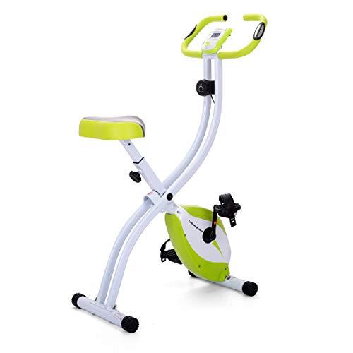 Ultrasport F-Bike 150 estática Mano, Bicicleta Fitness con Consola y sensores de Pulso en Manillar, Plegable, F-Bike 150 sin Respaldo, Unisex, Verde