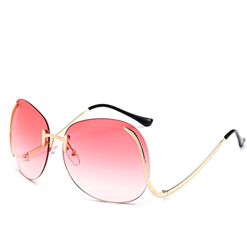 Fashion Sunglasses, Misaky Unisex Aviator Glasses Mirror Lens lentes de sol de mujer (Pink, - Mirror Sunglasses 2018