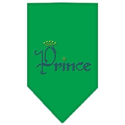 Mirage Pet Products Prince Rhinestone Bandana, Small, Emerald Green