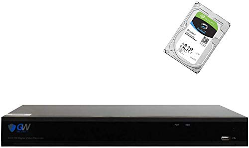GW Security 16 Channel Hybrid 5-in-1 5MP Standalone DVR H.265 CCTV with Motion Detection 16CH 5MP 1080p Digital Video Recorder System for Analog/AHD/TVI/CVI/IP Security Camera (Pre-Installed 4TB HDD)