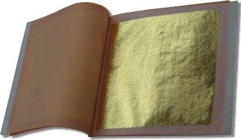 24k Gold Leaf (4 Booklets/100 sheets/Transfer Type) by L.A. Gold Leaf