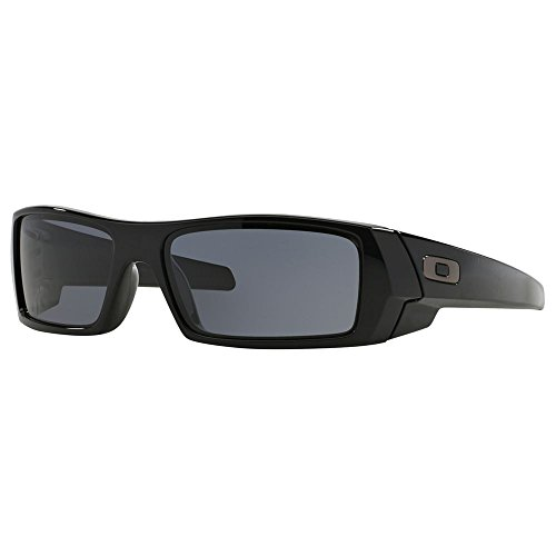 Oakley UniSex Gascan Polished Black Frame Grey Lens 03-471 - Sunglasses Oakley Gascan