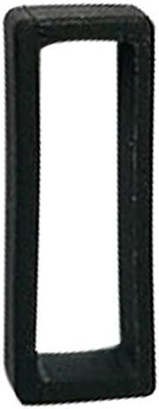 QIAONAI 時計 バンド 時計屋さん 腕時計 ラバー バンド ベルトループ ウレタンバンド用ループ シリコン製 サイズ選べます! 18mm 20mm 22mm 24mm 26mm 2個セット ブラック (22mm)