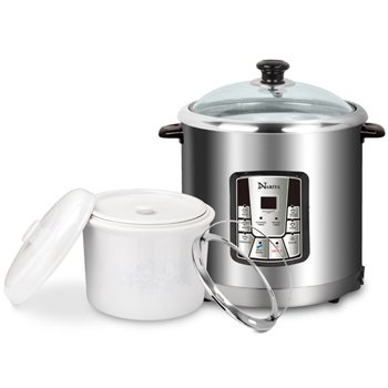 Multi Functional For Stew,Steam,Soup, Porridge And Rice Cooker 7.5Qt By HNDTEK by Narita