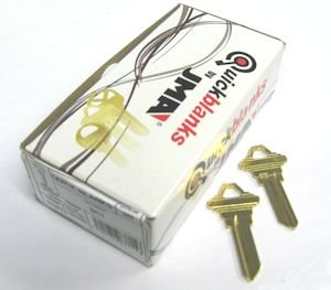 Key Blank Brass Type (SC1 Schlage Brass Key Blanks Box 50 by JMA)