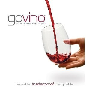 Govino Wine Glass Flexible Shatterproof Recyclable, Set of 4
