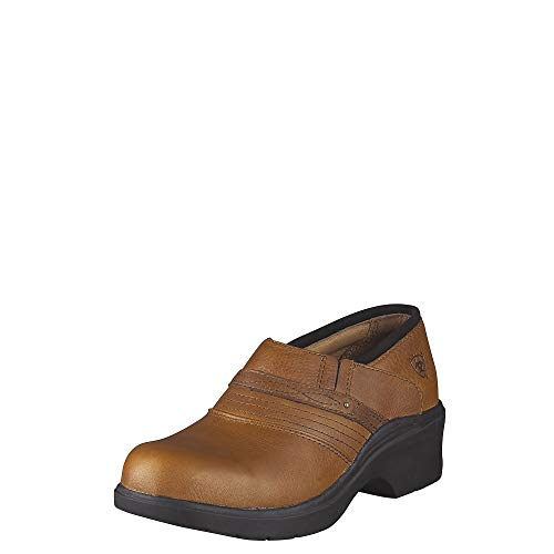 ARIAT Women's Safety Clog Steel Toe Golden Brown Size 11 B/Medium Us (Clogs Ariat Leather)
