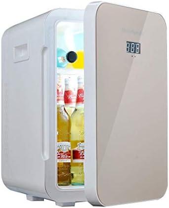 カー冷蔵庫冷凍庫、車冷蔵庫ミニ22リットルゴールドデュアルコアミュートクーラーボックスホームオフィスおよび使用