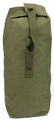 "Rothco Top Load Canvas Duffle, 30"" x 50"", Olive Drab"