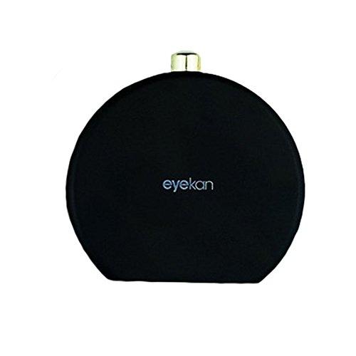 Set of 2 Contact Lens Case Solution Lenses Holder Cosmetic Box Travel Kit, Black