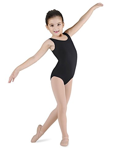 Bloch Dance Girls Dynamic Microlux Tank Leotard, Black, 6X-7 (Bloch Tank Leotard)