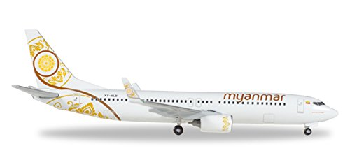Herpa Wings 530538 Myanmar National Airlines Boeing 737-800 1/500 Scale Model