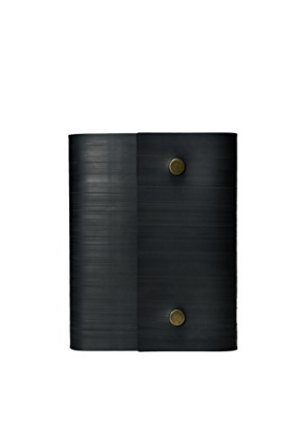 Notebook Journal From Recycled Tires by Streamlet. 100% Environmentally Smart. Handmade with Tire Cover, Vegan Leather Straps, 8x6 Inches, 240 Blank Pages. Compare to Quality Leather BRONZE by STREAMLET (Image #6)