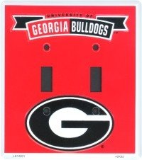 Amazon.com : Georgia G Collegiate Vanity Metal Novelty Double Light Switch Cover Plate LS12001 ...