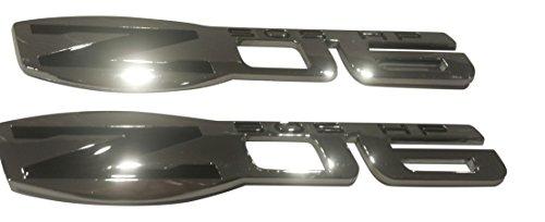 Muzzys (Set of TWO) Z06 505 HP Chrome and Black Emblem C6 ZO6 Corvette Fender 3M Stick On Decal (Emblem Z06)