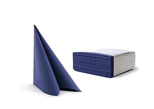 Alvotex Chic Airlaid - Servilletas de Tela (50 Unidades, 40 x 40 cm), Color Azul Oscuro