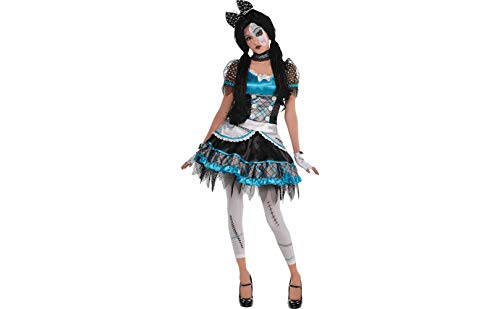 AMSCAN Shattered Doll Halloween Costume for Teen Girls, Small, with Included Accessories