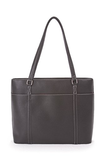 (Overbrooke Classic Laptop Tote Bag - X-Large Premium Vegan Leather Womens Shoulder Bag for Laptops up to 15.6 Inches)