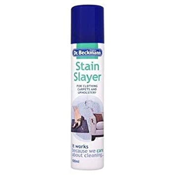 Spray quitamanchas Stain Slayer de Dr Beckmann, ideal para ropa, alfombras, etc,