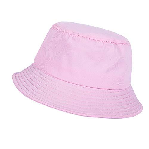 78f0e6b00 GLOGLOW Fashion Bucket Hat, Women Men Unisex Fisherman Summer Travel  Cap(Pink)