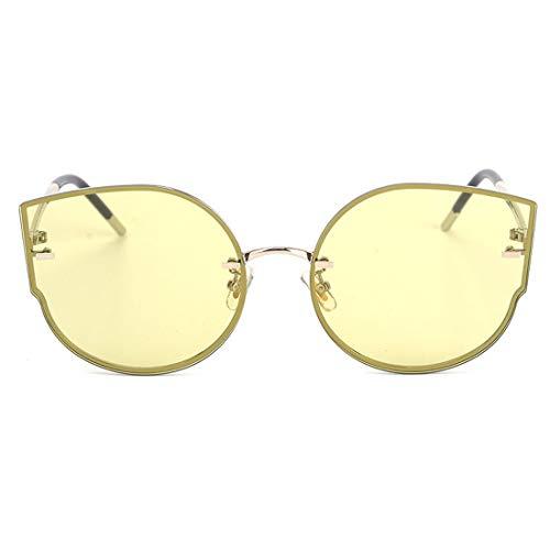 de en Yellow TLMY Silver Nouvelles Silver Soleil Monture Lunettes Frame Lunettes Lunettes Yellow Frame De Métal Deep Soleil De Lens Couleur Soleil Lens CTXPnTrwq