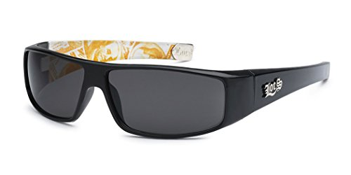 LOCS Original Gangsta Shades Hardcore Men's Flat Top Rectangular Sunglasses - Dollar Bill - Dollars Sunglasses 50
