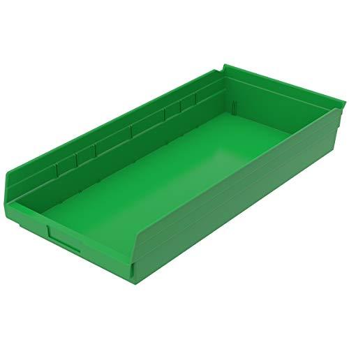 Akro-Mils, 30-174 GREEN, Shelf Bin, 23-5/8 In. L, 4 In. H, Green