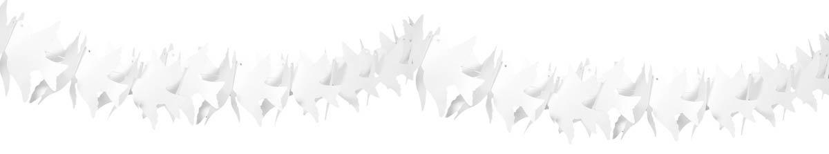 Folat Guirnalda de Palomas de Papel ign/ífugo 6 m 1 Unidad.
