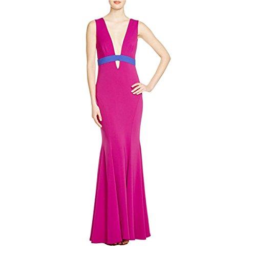 Nicole Miller Womens Crepe Cutout Evening Dress Purple 6