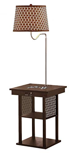 The Furniture Cove Espresso Side End Table USB