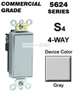 Lutron CA-4PS-GR Diva 15 A 4-Way Switch, Gray - Dimmer Switches ...