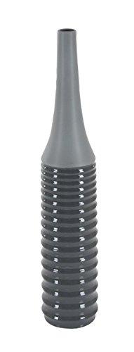 Deco 79 40554 Elongated Glazed Black Ceramic Vase, 32