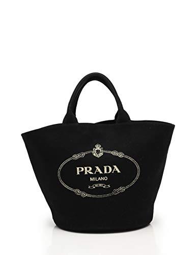 a7660d1ec0c0 Amazon   (プラダ) PRADA ファブリック CANAPA ハンドバッグ キャンバス 黒 2WAY 1BG163 中古   PRADA(プラダ)    ハンドバッグ