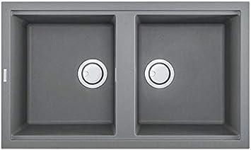 Elleci Lkb45097 Kitchen Sink Made Of Granite Keratek With A Double Bowl Best 450 K97 Grey Lkb45097 Light Grey Amazon Com