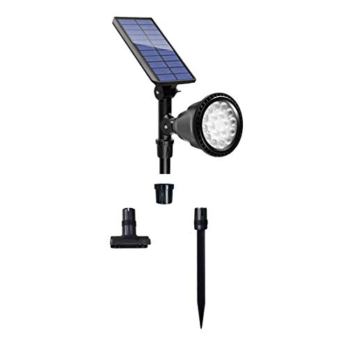 Urlitoy Solar Spotlights Outdoor, Waterproof 2-in-1 Outside Solar Powered 18 LED Spotlight- Ideal for Pathway, Walkway, Patio, Yard, Garden and Landscape (1 Pack,600LM)