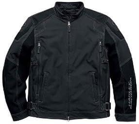 Harley-Davidson Men's Fortify Waterproof Riding Jacket, Black. 98099-16VM (Large)