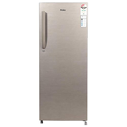 Renewed  Haier 220 L 3 Star Direct Cool Single Door Refrigerator  HED 22TDS, Dazzle Steel