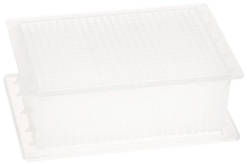 Whatman 7701-5400 Natural Polypropylene 384 Wells Uniplate Collection and Analysis Microplate with Square to Round Well Bottom, 400microliter Volume (Pack of 25)