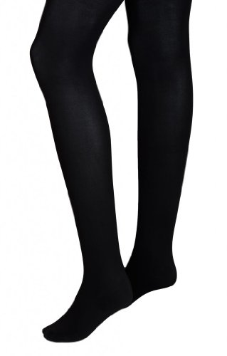 Intimate Portal Women Adjustable Maternity Opaque Tights Black